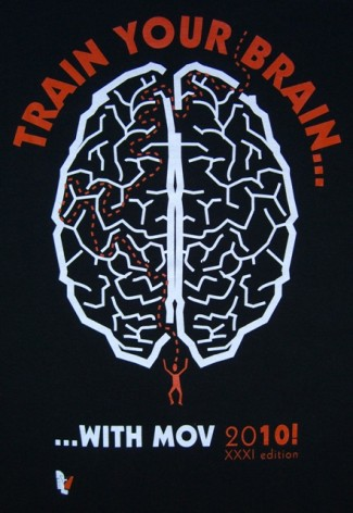 """Train your Brain"" - so das originelle Motto des diesjährigen MOV-T-Shirts"